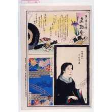 不明: 「東京自慢名物会」「宝井琴凌」「女優粂八 守住月華」「見立模様二重橋染」 - Waseda University Theatre Museum