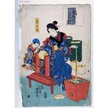国麿: 「蚕やしなひ草」「糸ひき」 - 演劇博物館デジタル