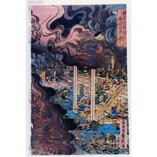 Utagawa Sadahide: 「楠正行夜討に尊氏丹波へ退く」 - Waseda University Theatre Museum