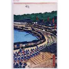 Utagawa Sadahide: 「泉岳寺門前」「五智大仏門前」「太子堂」「焔魔堂」「御高札」「東禅寺」 - Waseda University Theatre Museum