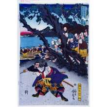 Utagawa Yoshitora: 「九州岸柳嶋に(おい)て宮本無三四佐々木岸柳仕合之図」「佐々木岸柳」 - Waseda University Theatre Museum
