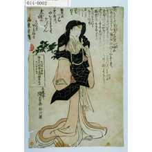 Utagawa Kunisada: 「文化十壬申年十一月廾九日 ☆定院環誉光阿禅昇居士<路考をいたむ>」 - Waseda University Theatre Museum
