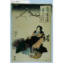 Utagawa Kunisada: 「天保三壬辰年正月七日 瀬川菊之丞 行年三十一歳 勇誉才阿哲芸信士 押上大雲寺」 - Waseda University Theatre Museum