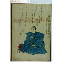 Unknown: 「皓月院玄光如水居士 嘉永七年寅八月六日 行年三十二」 - Waseda University Theatre Museum