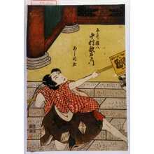 芦国: 「平井権八 中村歌右衛門」 - Waseda University Theatre Museum