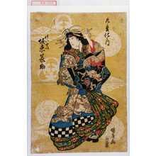 国広: 「九変化之内」「けいせい 坂東簑助」 - Waseda University Theatre Museum