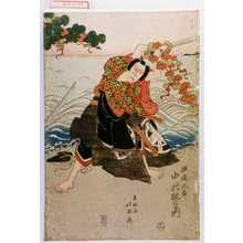 Shunkosai Hokushu: 「瀬尾太郎 中村歌右衛門」 - Waseda University Theatre Museum