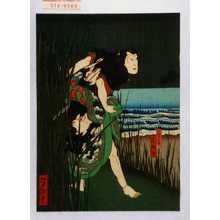 Utagawa Yoshitaki: 「犬田小文吾 嵐雛助」 - Waseda University Theatre Museum