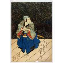 Shunkosai Hokushu: 「百姓五作実ハ石川五右衛門 中村歌右衛門」 - Waseda University Theatre Museum