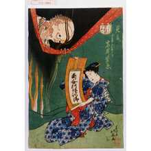 北英: 「こはだ小平二 百物語」「見立 女房あさか 岩井紫若」 - Waseda University Theatre Museum