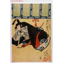 北英: 「石川五右衛門 中村歌右衛門」 - Waseda University Theatre Museum
