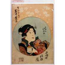 北英: 「当世化粧鏡」「下女おたけ 岩井紫若」 - Waseda University Theatre Museum