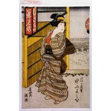 Shunkosai Hokushu: 「げいこ菊野 中山よしを」 - Waseda University Theatre Museum