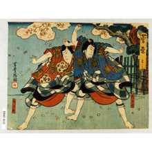 Utagawa Yoshitoyo: 「菅原 三ノ口」「松王丸」「梅王丸」 - Waseda University Theatre Museum
