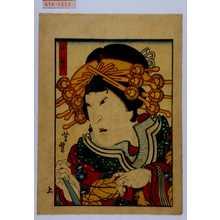 Utagawa Yoshitoyo: 「小紫」 - Waseda University Theatre Museum