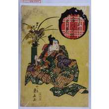 重春: 「御名ごり 者川蔵人 市川白猿」 - 演劇博物館デジタル