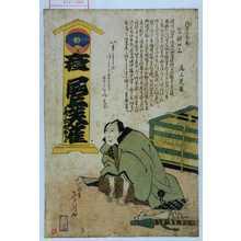 多美国: 「於名古屋表ニ乍憚口上 尾上芙雀」 - Waseda University Theatre Museum