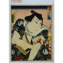 Utagawa Kunikazu: 「侠客義勇伝」「うでノ喜三郎 嵐徳三郎」 - Waseda University Theatre Museum
