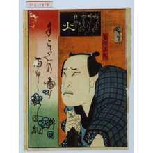 Utagawa Hirosada: 「火」「百姓弥作」 - Waseda University Theatre Museum