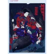 Utagawa Yoshitaki: 「術競浪花(功)」「仙冠者茂虎 実川延三郎」 - Waseda University Theatre Museum