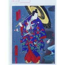 Utagawa Yoshitaki: 「白縫大尽実ハ若菜姫 市川右団次」 - Waseda University Theatre Museum