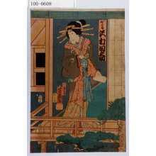 Ochiai Yoshiiku: 「おかる 沢村田之助」 - Waseda University Theatre Museum