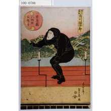 Utagawa Sadahide: 「忠臣蔵八段目所作事」「やつこ角助 市川団十郎」 - Waseda University Theatre Museum