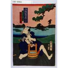 Utagawa Kunisada II: 「浄瑠璃忠臣蔵 二段め三人奴」「桃の井下部鶴平 坂東彦三郎」 - Waseda University Theatre Museum
