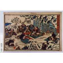 Utagawa Kunisada: 「仮名手本忠臣蔵 十一段目後」 - Waseda University Theatre Museum