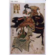 Utagawa Toyokuni I: 「曽我の箱王丸 岩井粂三郎」「鬼王新左衛門 沢村東蔵」 - Waseda University Theatre Museum