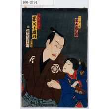 Toyohara Kunichika: 「一万丸 尾上菊三郎」「鬼王新左衛門 市川小団次」 - Waseda University Theatre Museum