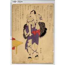 Utagawa Kuniyasu: 「助六 河東節」「三枚つゝき上」「大谷馬十」 - Waseda University Theatre Museum