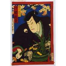 Morikawa Chikashige: 「鳥居新左衛門 片岡我童」 - Waseda University Theatre Museum
