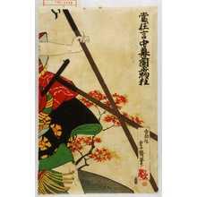 国政: 「当り狂言中幕蘭平物狂」 - Waseda University Theatre Museum