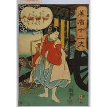 歌川国芳: 「美盾十二史」 - 演劇博物館デジタル