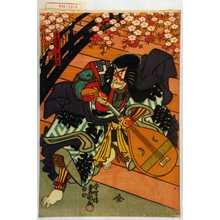 Utagawa Kunisada: 「千寿 実ハ景清」 - Waseda University Theatre Museum