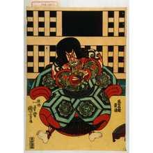 Utagawa Kuniyoshi: 「悪七兵衛景清」 - Waseda University Theatre Museum