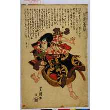 Utagawa Toyoshige: 「狐忠信 坂東簑助」 - Waseda University Theatre Museum