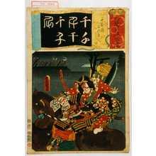 Utagawa Kunisada: 「七意呂波拾遺」「千本桜 土佐坊 むさし坊」 - Waseda University Theatre Museum