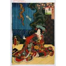 Utagawa Kunisada: 「見立十二支之内 辰 雪姫」 - Waseda University Theatre Museum