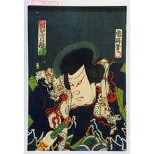 Utagawa Kuniteru: 「筑紫の権六」 - Waseda University Theatre Museum