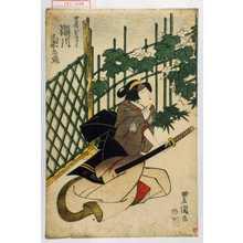 Utagawa Toyokuni I: 「女房おきく 瀬川菊之丞」 - Waseda University Theatre Museum