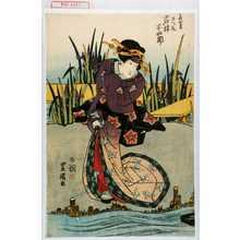 Utagawa Toyokuni I: 「高橋女房さつき 岩井半四郎」 - Waseda University Theatre Museum