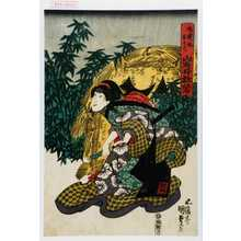 Utagawa Kunisada: 「磯貝娘おそで 岩井杜若」 - Waseda University Theatre Museum