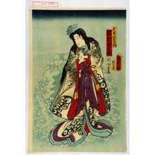 Utagawa Kunisada II: 「大友若菜姫 沢村田之助」 - Waseda University Theatre Museum