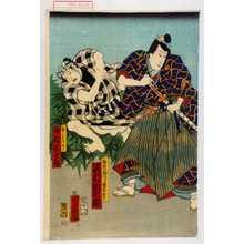Ochiai Yoshiiku: 「白ぬひ じつハ若菜ひめ 沢村田之助」「☆ 中村木十郎」 - Waseda University Theatre Museum