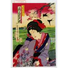 Toyohara Kunichika: 「花の村の千種 実ハ鳥山秋作 尾上菊五郎」 - Waseda University Theatre Museum