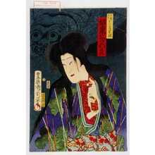 Toyohara Kunichika: 「白縫大尽 実は若菜姫 坂東三津五良」 - Waseda University Theatre Museum