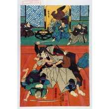 Utagawa Yoshitora: 「外記左衛門」「仁木弾正」 - Waseda University Theatre Museum
