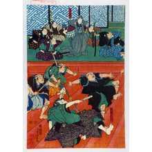 Utagawa Yoshitora: 「渡辺民部」「細川勝元」 - Waseda University Theatre Museum
